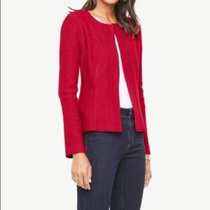 Banana republic red peplum jacket